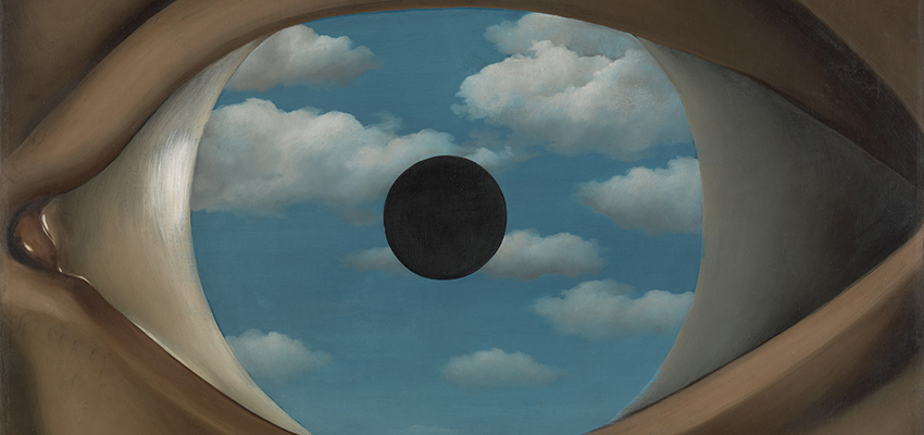 René Magritte, The False Mirror, 1929.