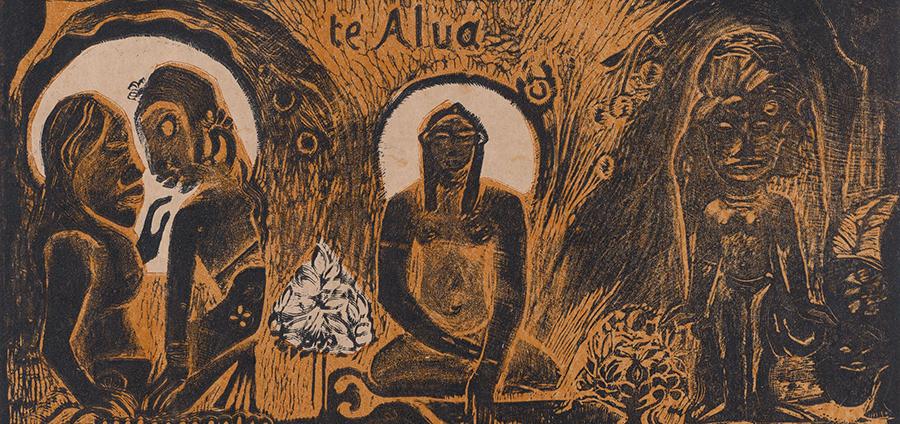 Paul Gauguin. Te atua, state III / III. 1893–94.