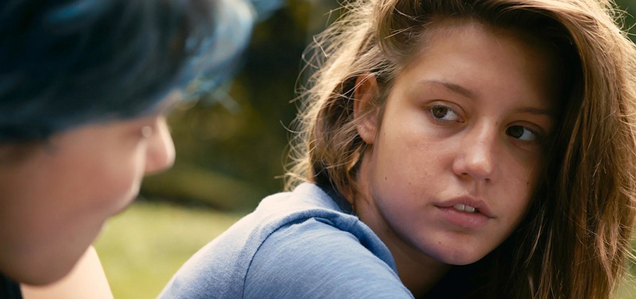Adèle Exarchopoulos and Léa Seydoux in Blue Is the Warmest Color.